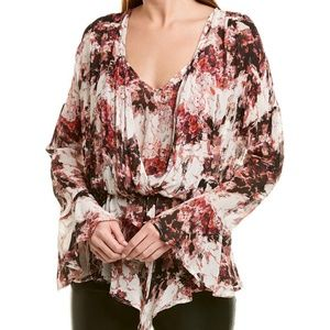 IRO Paradon Floral Bell Sleeve Layered Top 10